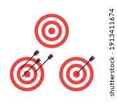 target icons set. arrow hitting ...   Shutterstock .eps vector #1913411674