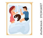 sleeping family man and woman...   Shutterstock .eps vector #1913416027