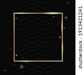 gold square vintage frame with... | Shutterstock . vector #1913421241