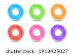 collection of inflatable rubber ... | Shutterstock .eps vector #1913425027