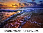 magnificently colorful beach... | Shutterstock . vector #191347325