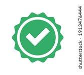 checkmark vector icon in star... | Shutterstock .eps vector #1913476444