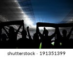 silhouettes of football... | Shutterstock . vector #191351399
