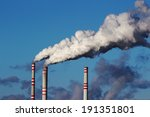 smoke from  chimneys of coal... | Shutterstock . vector #191351801