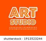vector stylish sign art studio. ... | Shutterstock .eps vector #1913523244