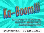 ka boom alphabet font. letters  ... | Shutterstock .eps vector #1913536267
