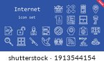 internet icon set. line icon...