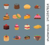cakes icon collection with...   Shutterstock .eps vector #1913547814
