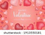 valentin day banner vector shape   Shutterstock .eps vector #1913550181