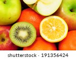 background from many different... | Shutterstock . vector #191356424