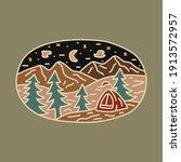 camping nature adventure wild...   Shutterstock .eps vector #1913572957