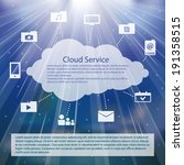 cloud service icons pack vector ...