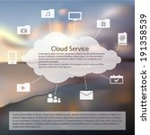 cloud service flat icons pack...