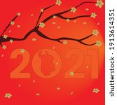 lunar new year along with... | Shutterstock .eps vector #1913614351