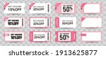 coupon ticket card element...   Shutterstock .eps vector #1913625877