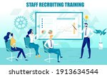 staff recruitment training... | Shutterstock .eps vector #1913634544