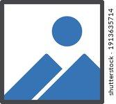 photo vector glyph color icon
