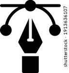 bezier vector glyph flat icon