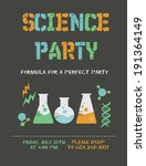 science birthday party | Shutterstock .eps vector #191364149