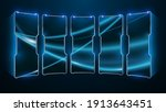 abstract sci fi frame pattern... | Shutterstock .eps vector #1913643451