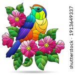 a stained glass illustration... | Shutterstock .eps vector #1913649337