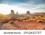 Sunset In The Monument Valley ...