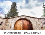 Beautiful Wooden Door With A...