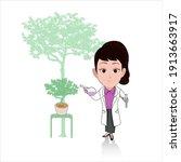 caricature cartoon of...   Shutterstock .eps vector #1913663917