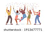 group of young people...   Shutterstock .eps vector #1913677771