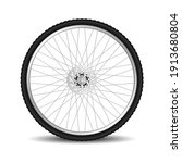 realistic bicycle tire wheel...   Shutterstock .eps vector #1913680804