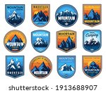 mountain tourism and rock... | Shutterstock .eps vector #1913688907