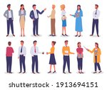 group of business working... | Shutterstock .eps vector #1913694151