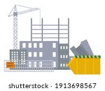 vector banner of construction... | Shutterstock .eps vector #1913698567