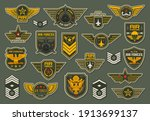 army air forces  airborne units ... | Shutterstock .eps vector #1913699137