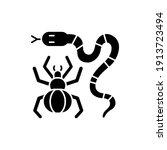 dangerous animals black glyph...   Shutterstock .eps vector #1913723494