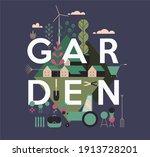 garden  agriculture. rural... | Shutterstock .eps vector #1913728201