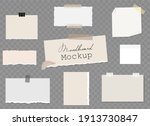 moodboard blank template with...   Shutterstock .eps vector #1913730847