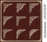 vintage design elements corners | Shutterstock .eps vector #191373149