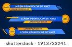 graphic set of broadcast news... | Shutterstock .eps vector #1913733241