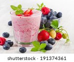 berry smoothie with fresh... | Shutterstock . vector #191374361