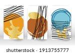 scribbles design. watercolor... | Shutterstock .eps vector #1913755777