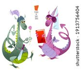 Two Fairy Tale Dragons. Diada...