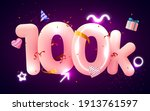 100k or 10000 followers thank... | Shutterstock .eps vector #1913761597