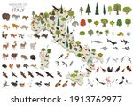 isometric 3d design of italy... | Shutterstock .eps vector #1913762977
