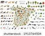 flat design of spain wildlife.... | Shutterstock .eps vector #1913764504