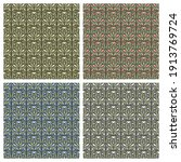 set of seamless patterns with... | Shutterstock .eps vector #1913769724