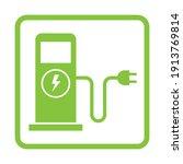 green eco electric fuel pump... | Shutterstock .eps vector #1913769814