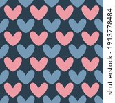 seamless heart pattern.... | Shutterstock .eps vector #1913778484