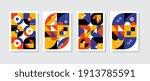 poster postmodern inspired... | Shutterstock .eps vector #1913785591