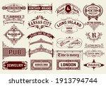 mega set of badges  western... | Shutterstock .eps vector #1913794744